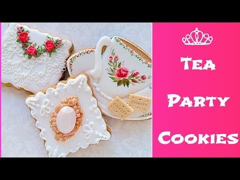 Tea Party cookies...☕️ - YouTube