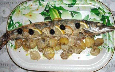 Рецепт вкусной и красивой щуки запеченной в духовке