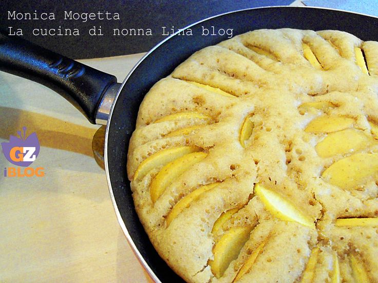 Torta+di+mele+cotta+in+padella+-+senza+uova+ne+burro