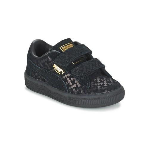 Puma SUEDE BATMAN FM PS Zwart - Gratis levering bij Spartoo.be ! - Schoenen Lage sneakers Kind € 65,00