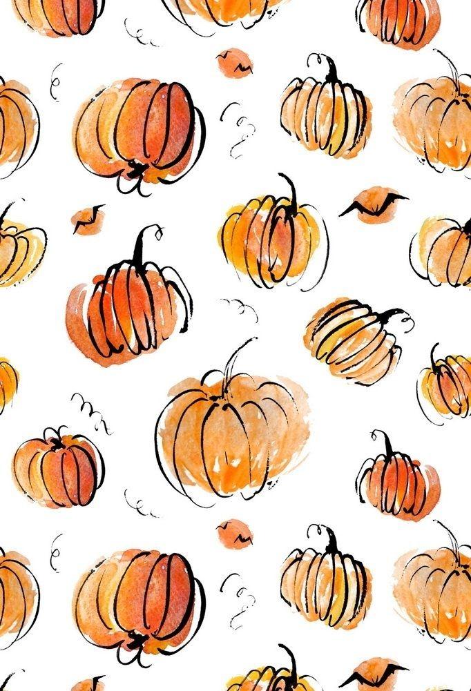 5x7ft Hand Drawn Happy Halloween Pumpkins Photography