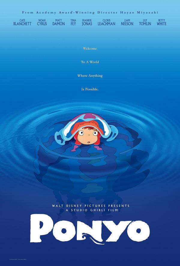 Ponyo directed by Hayao Miyazaki