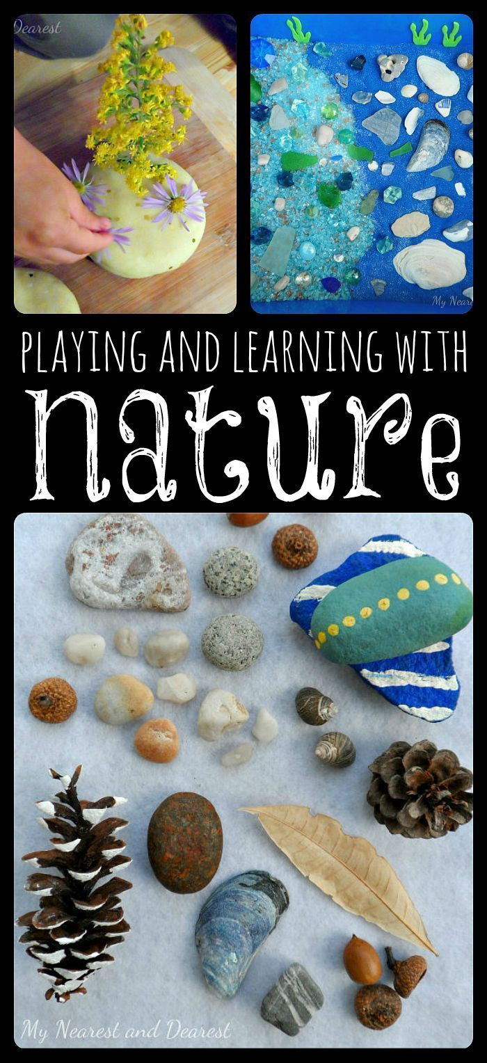5 ways to incorporate nature into learning and play. Perfect for early childhood classrooms, homeschools, and at home. Guest post from http://www.mynearestanddearest.com