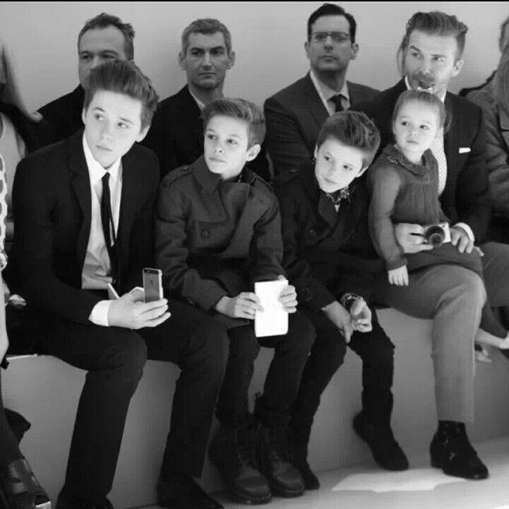 David Beckham and his children #beckham #family Brooklyn Beckham