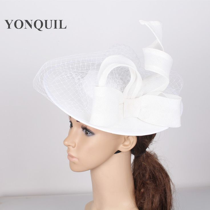 >> Click to Buy << Large 30CM Round white fascinator base velling hair accessories women party wedding top hat copy sinamay birdcage veil headwear #Affiliate