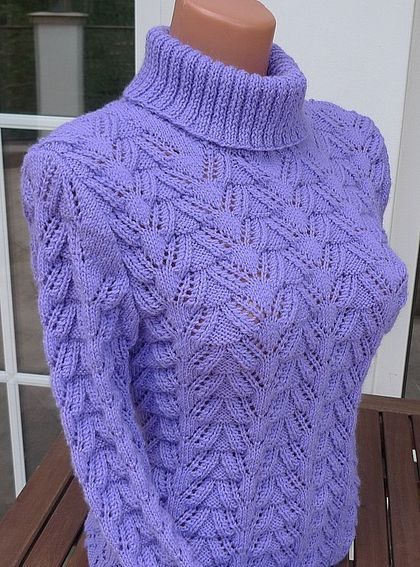 Sudaderas y jerseys hechos a mano su ter lavanda monta a - Patrones jerseys de punto hechos a mano ...