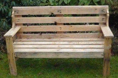 Oltre 25 fantastiche idee su banc en palette su pinterest fauteuil en palet - Banc de jardin en bois de palette ...