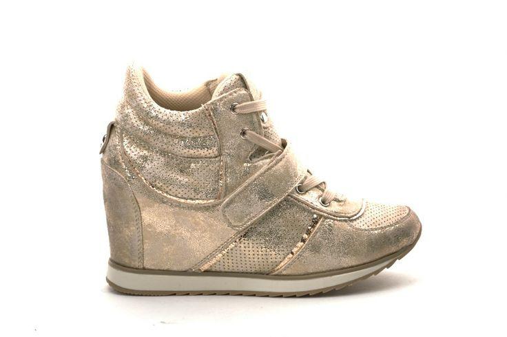 Scarpe Donna GOLD AND GOLD Sneakers donna con zeppa Oro