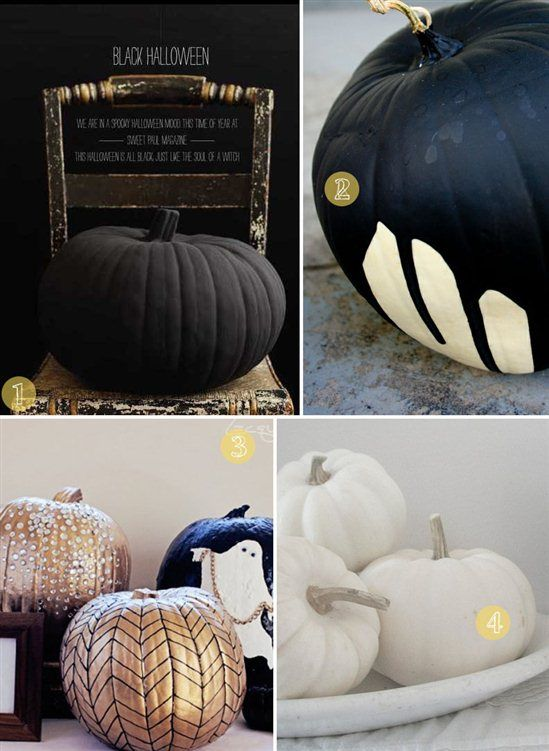 Modernize Your Halloween with Black and White Pumpkin Designs  Modern Fall  DecorModern ...