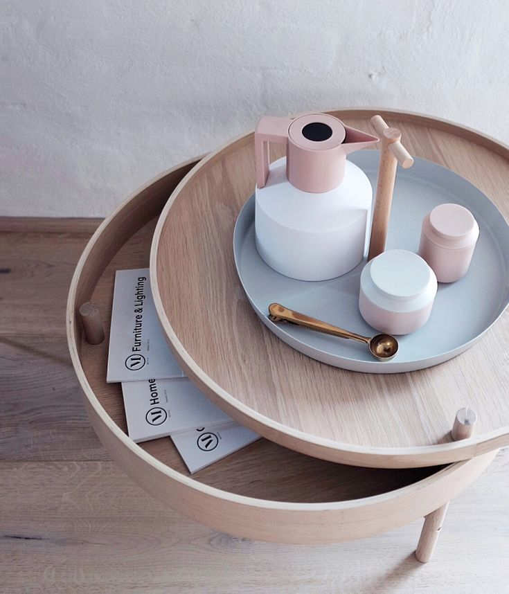 The Menu Turning Table not only looks great as a coffee table but has a storage compartment to help keep your living room tidy! Also featuring the Normann Copenhagen Geo range and General Tray from Good Thing New York.
