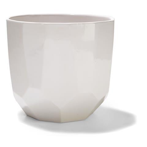 Geometric Pot - White, 18cm | Kmart