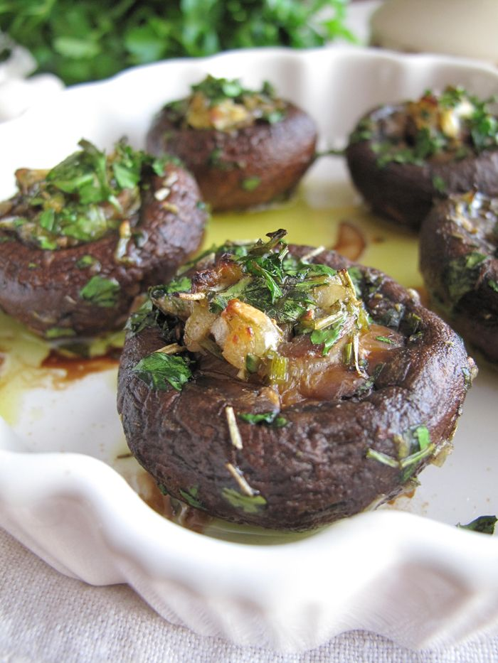 Garlic and Herb Stuffed Mushrooms (Paleo/AIP/Whole30)