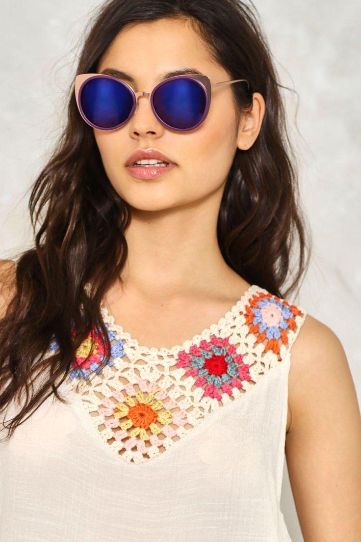Rose Gold Cat Eye Lense Sunglasses   Shop Clothes at Nasty Gal!