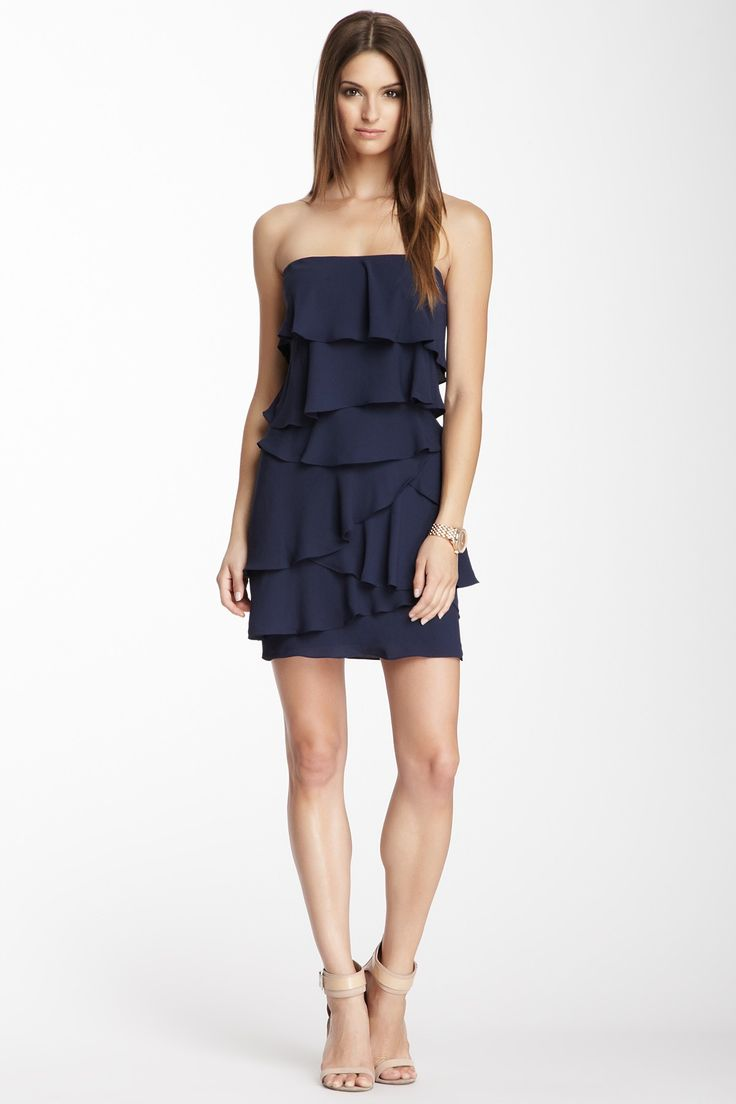 BCBGMAXAZRIA Strapless Ruffle Tiered Dress <3.. It's a little messy but if you have a great figure, it's doable lol