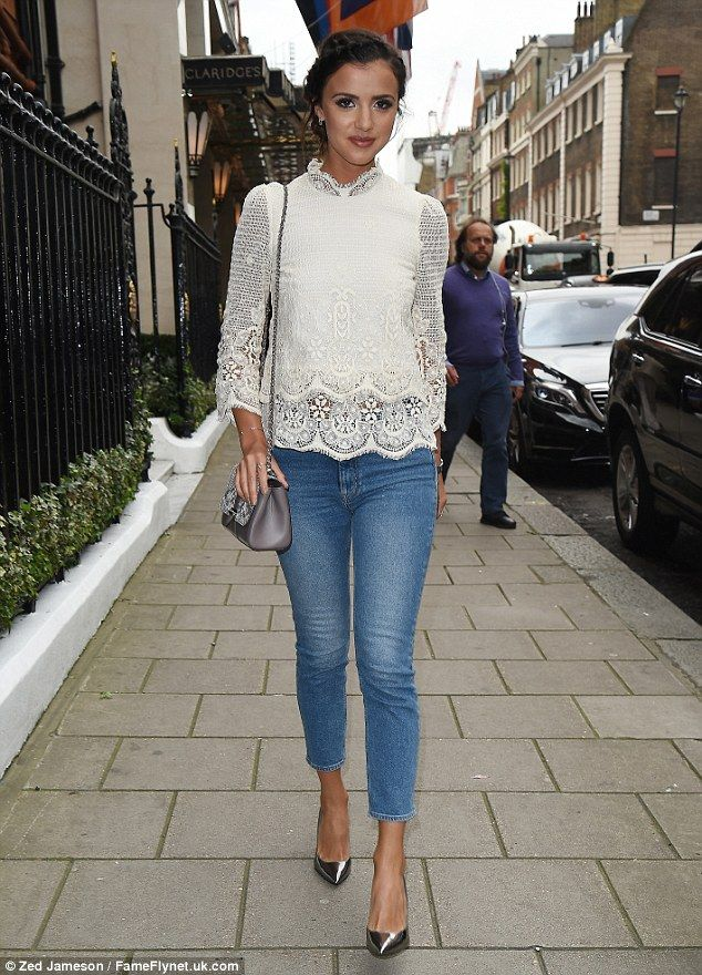 Passion for fashion: Lucy Mecklenburgh was seen attending Aspinal of London's London Fashion Week SS17 presentation on Monday