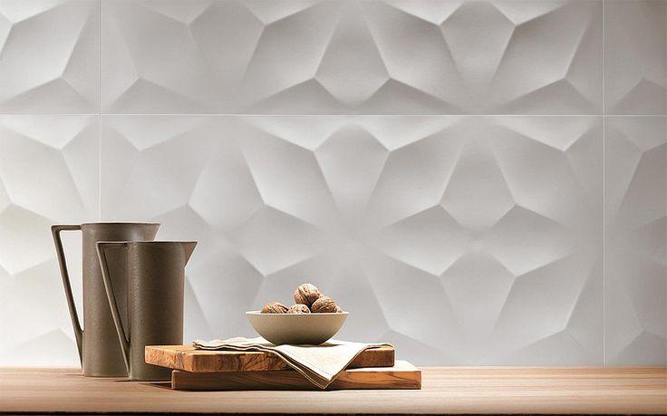 3 D wall tiles are still trendy