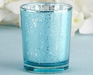 Azul Claro Mercury Portavela set de 4 $7.00 USD