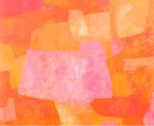 Urpu Ilasmaa, Red Composition, 1964, Oil, 100x81 cm www.clikdesign.fi/ilasmaa