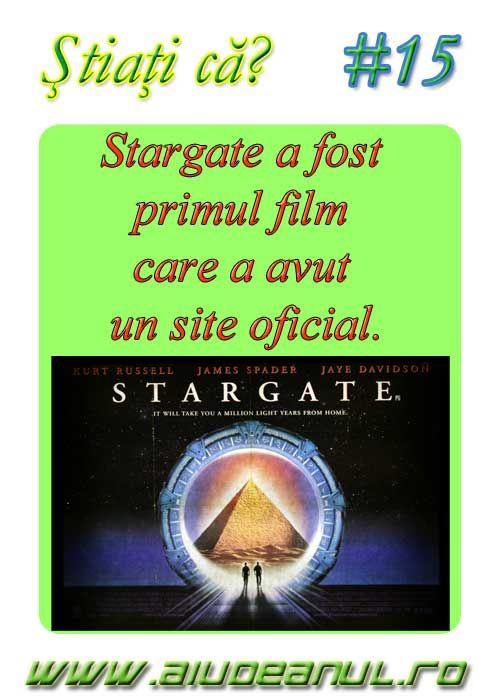 Stargate a fost primul film care a avut un site oficial