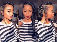 Afro Puff Ponytail | Afro Puffs And Ponytails | Black Ladies Cuts Hairstyles 201…