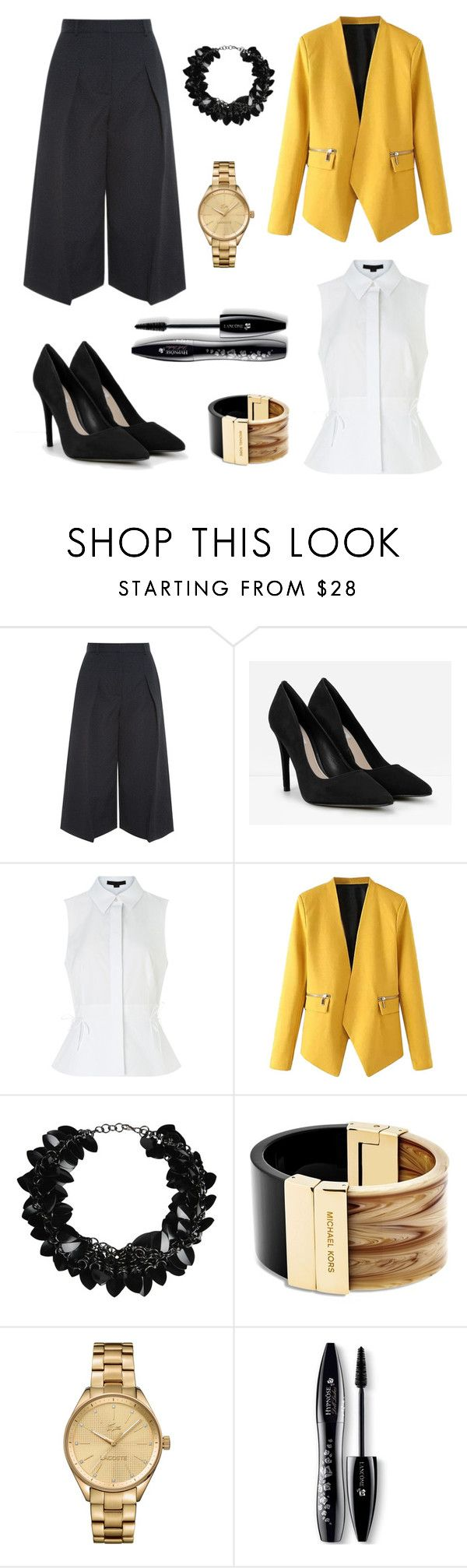 """Business woman ftw"" by shop-styleloft on Polyvore featuring Erdem, CHARLES & KEITH, Alexander Wang, WithChic, First People First, Michael Kors, Lacoste and Lancôme"