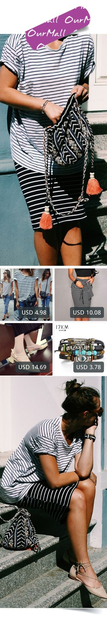 This is Ola Szymanska's buyer show in OurMall;  1.Summer Style O Neck Women White Black Stripe Shirts Blusas Short Sleeve Female 2.Slim Bodycon Pencil Skirts Women Lady Striped Skirt Female Knee-Length Bandage 3.women shoes Spring Fashion Pointed Stilettos women Pumps High up ... please click the picture for detail. http://ourmall.com/?7bqyiq