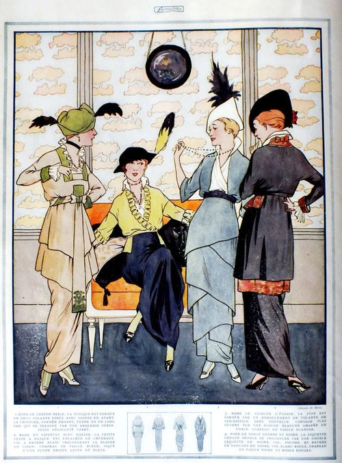 .Circa 1914 - Parisian fashion