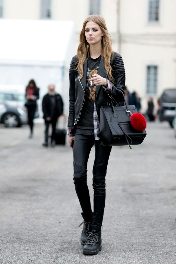 rock right on #LexiBoling. rad as. #offduty in Milan.