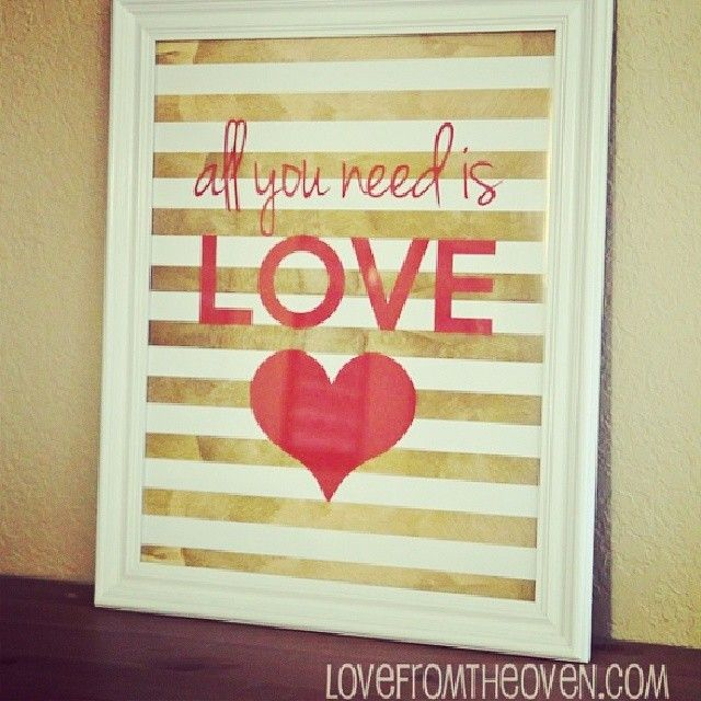 Free Valentine Printable Sign   So Cute!