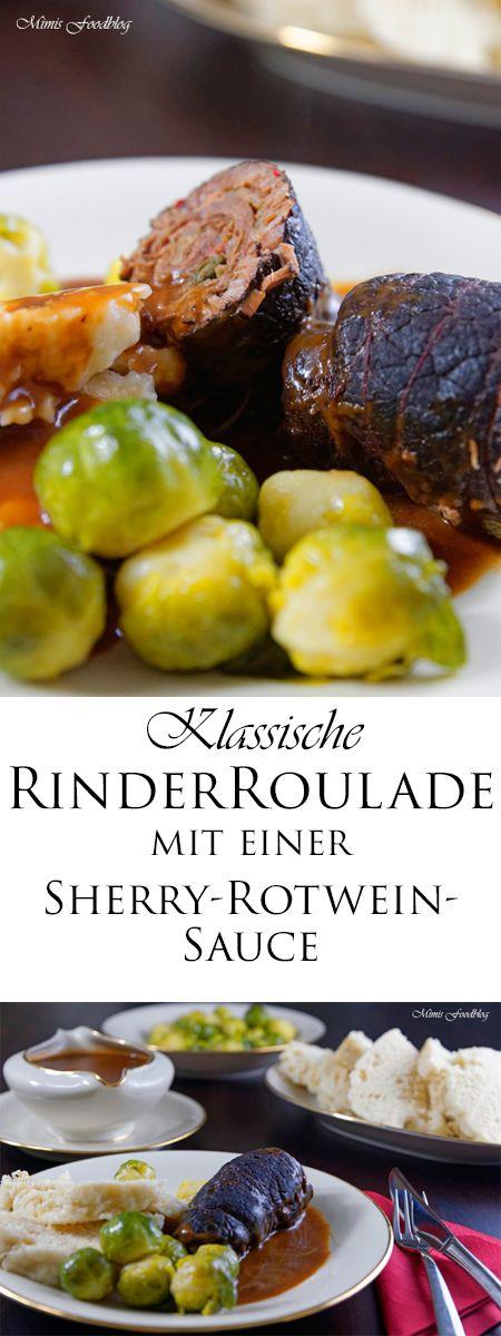 Dieses Rezept für Rinderrouladen mit einer Sherry-Rotwein-Sauce ist meine liebste Version des Klassikers Rinderrouladen. Dazu gibt es Knöplfe und Rosenkohl.