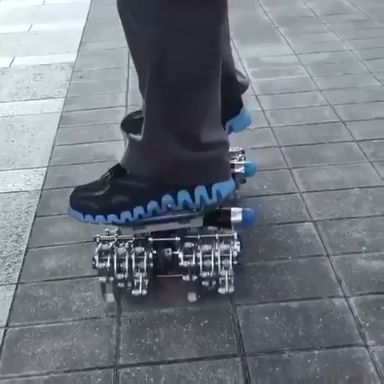 this is a skateboard that crawls instead of rolls