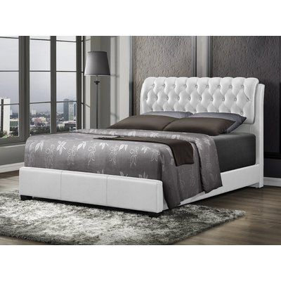 Barnes Upholstered Panel Bed Size: Full, Color: White - http://delanico.com/beds/barnes-upholstered-panel-bed-size-full-color-white-623923610/