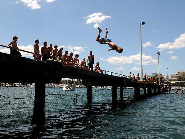 The pier at Gunnamatta Baths was always the scariest jump as a 7 year old! But each summer, we would walk barefoot round the bay, braving oyster cuts - we all still bare scars.