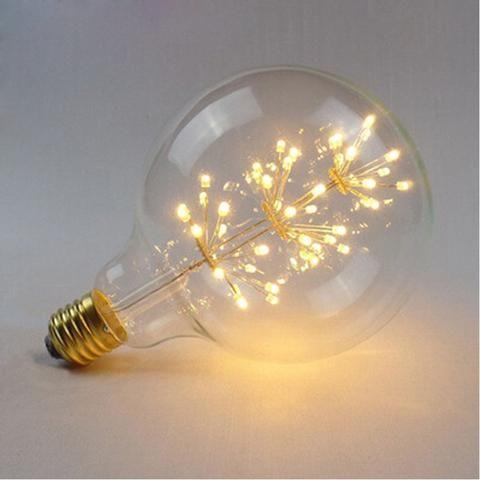 Bulb E27 LED Fireworks Filament Light Edison Vintage Light Bulb G80 Decorative lamp 110V 220V