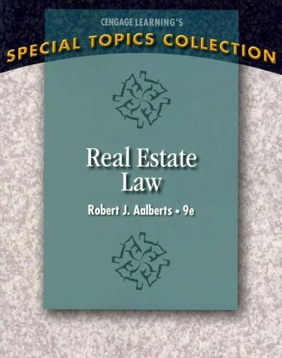 Clear, concise, and current, REAL ESTATE LAW, 9th Edition, combines practical legal examples with theory and case law to provide a comprehensive picture of the field. Rather than using a state-specifi