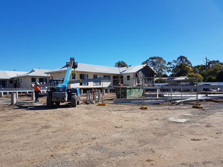 Coming out of the ground at Millmerran Centenary Nursing Home... Sims White 2017