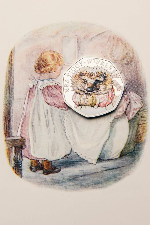 Mrs Tiggy-Winkle coin - from the Royal Mint, UK