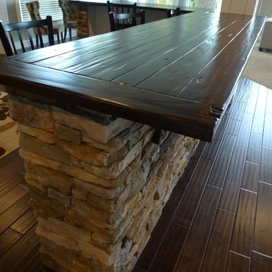 Rock and wood top