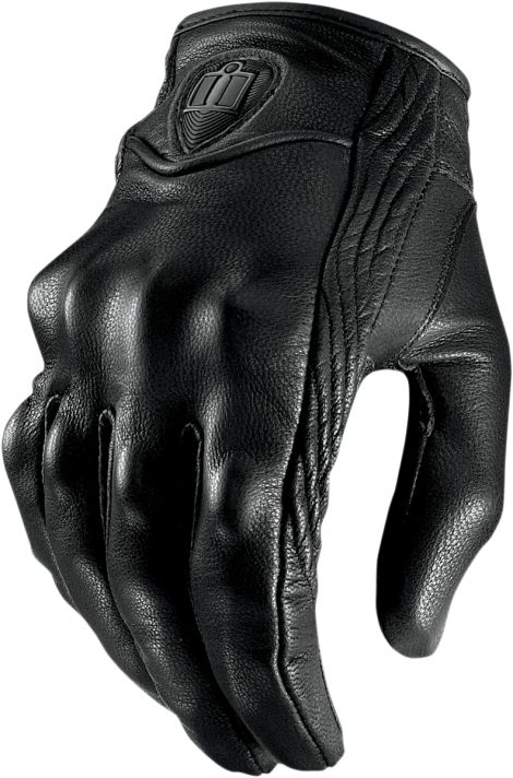 Fits like a glove...You've heard it a thousand times, so have we. What actually defines how a glove should fit? We think the new standard is Icon's Pursuit™ glove. Supple sheepskin leather conforms to your hand. Plastic knuckle armor for protection, but hidden for a refined look. All over perforation for all day comfort. Reinforced goatskin palm to combat those nasty encounters with the asphalt. Try it on for yourself and then decide. This is what a glove was meant to be. from Icon…