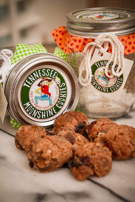 Only for my Adult friends would this be an awesome Christmas present...just as long as I didn't bring them to work!!! Cookies and Moonshine: a match made in heaven. Tennessee Moonshine Cookies. $24