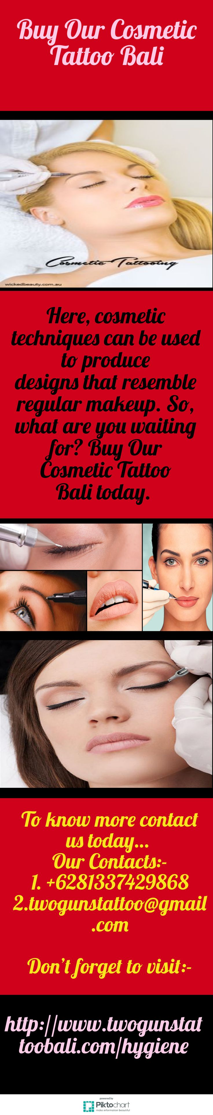 Cosmatic makeup can be used to cover up face or body scars and white sports. So, what are you waiting for? Buy Our Cosmetic Tattoo Bali today. See more: http://www.twogunstattoobali.com/hygiene