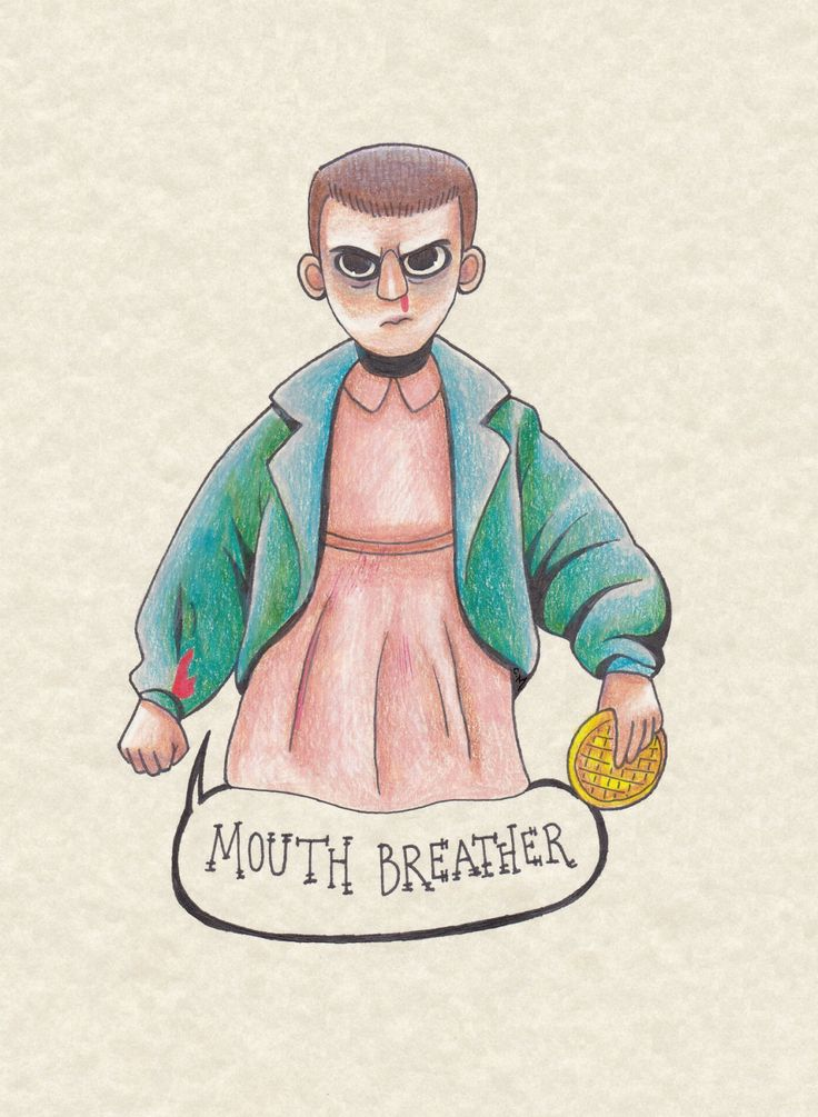 Nothing comes between Eleven and her Eggos (Stranger Things art)
