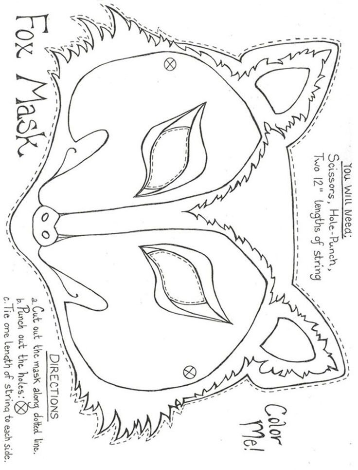 Felt pattern felt pattern pinterest felt patterns for Fantastic mr fox mask template