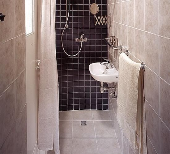 space saving ideas for bathroom remodeling Maybe I could handle the shower/sink area being the wet side and the toilet staying dry in its corner.