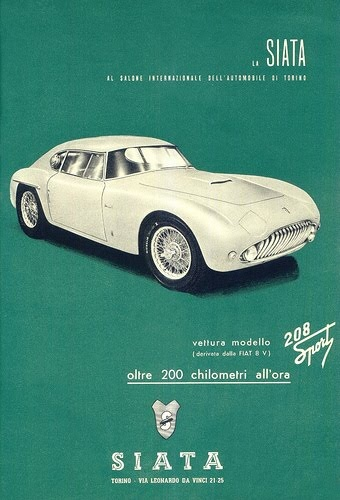Vintage Italian Posters - Italy. SIATA. The coolest car you've never heard of.