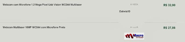 Comparando preço de Webcam Multilaser Vision com Microfone WC044 em 2 lojas - busca preços