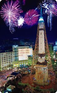 my hometown indianapolis monument circle decorated with lights for the christmas holidays - Christmas Lights Indianapolis