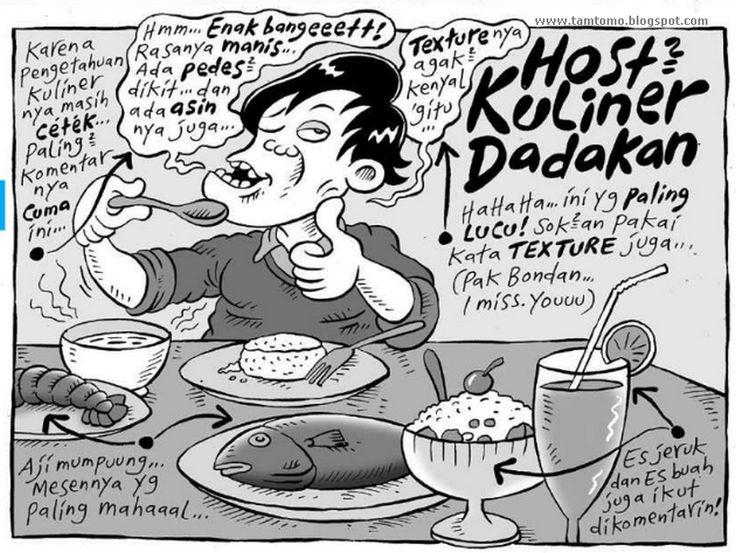 LOL .. Mice Cartoon, Kompas Minggu - 9 Agustus 2015: Host Kuliner Dadakan
