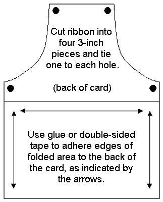 ✄ printable #templates.......barbecue Apron Card template Mirkwood Designs