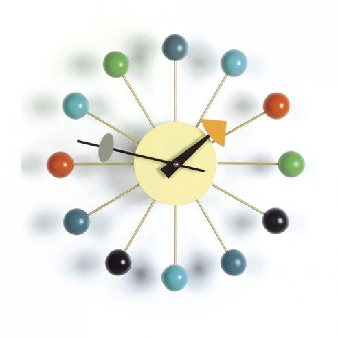George Nelson Style Multi Coloured Ball Clock - George Nelson from Only Home UK